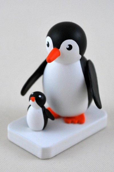 Pinguin Mutter mit Kind